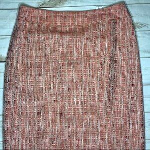 Jones Wear Skirts - JONES WEAR Womens Papaya Tweed Marbella Skirt